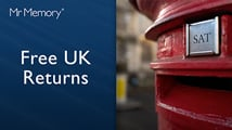 How you can return your order to Mr Memory, using our Freepost returns system.