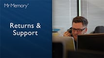 Exceptional Returns & Support from Mr Memory. Freepost Returns, Lifetime Warranty and super-fast communication